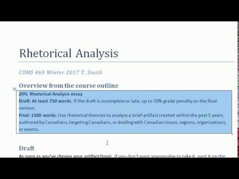 rhetorical analysis of quothuddled geniusesquot Rhetorical analysis is the process of evaluating elements of a text and  analysis  a good rhetorical analysis does not try to address every element of a text.