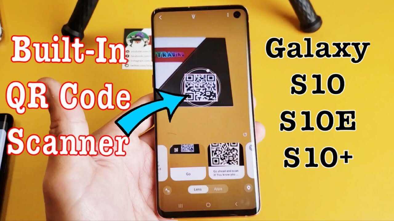 How to scan qr code in samsung