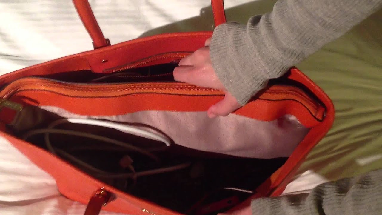925e4faf2 ... bag inside Michael Kors MacBook travel tote review - YouTube ...