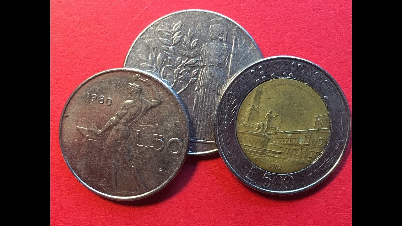10 50 20 ITALY SET OF 7 COINS: 5 100 500 LIRE ITALIAN COIN COLLECTION 200