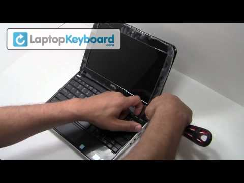 Dell Inspiron Keyboard Installation Replacement Guide - Remove, Replace, Install, Mini Netbook