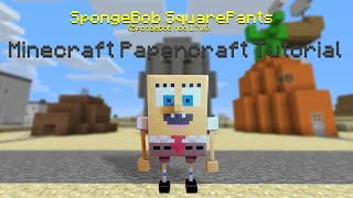 Minecraft Papercraft Tutorial: SpongeBob SquarePants (Mod)