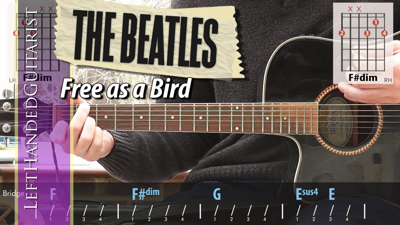 Download The Beatles - Free As A Bird | guitar lesson