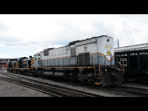 Scranton, Pennsylvania - Steamtown National Historic Site - Train Ride HD (2017)
