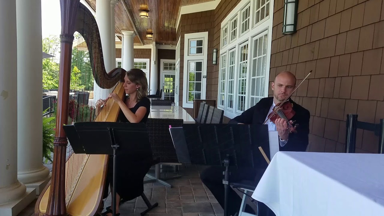 A Thousand Years by Christina Perri, violin and harp ~ Tiffany Envid,  harpist