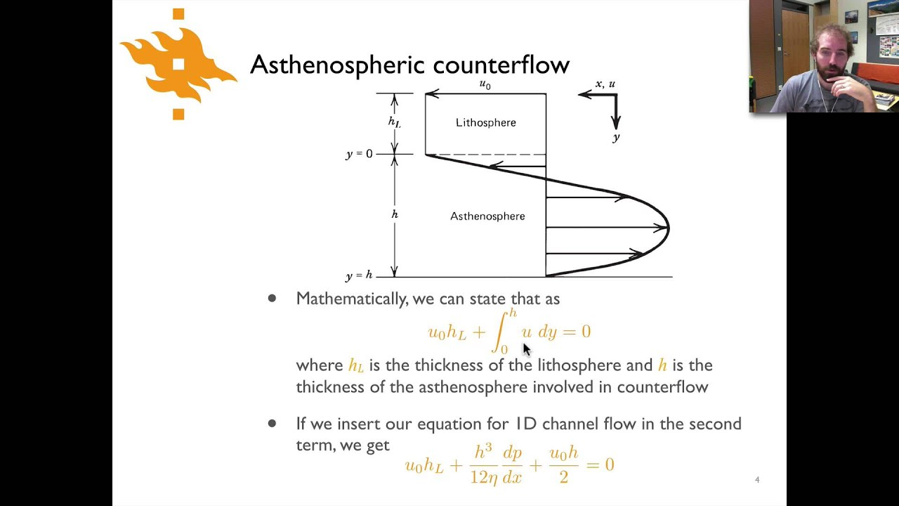 lecture 9 5 asthenospheric counterflow youtube
