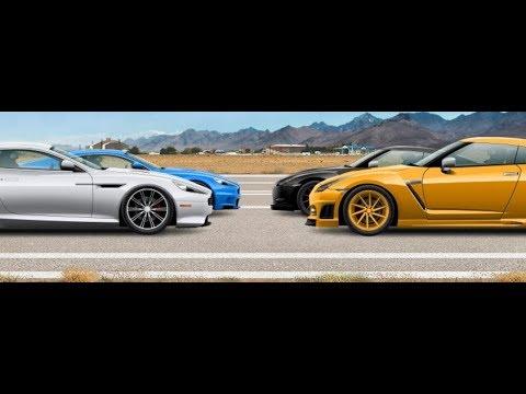 Stritrejsery Aston Martin Db9 Nissan Gt R 6 121 Youtube