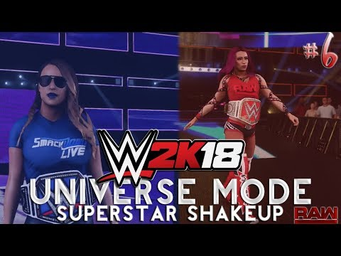 "WWE 2K18: Women's Universe Mode #6 - ""Superstar Shake-Up"" (PS4)"