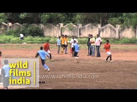Indian Football Fanatics Play Friendly Match At Satara, Maharashtra