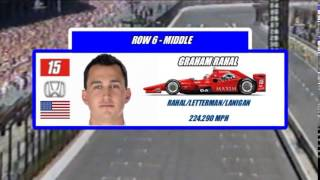2015 Indianapolis 500 Starting Field (DELTA FORCE INTRO)