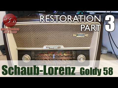 Schaub-Lorenz Goldy 58 type 3020 tube radio restoration - Pa