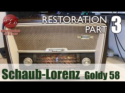 Schaub-Lorenz Goldy 58 type 3020 tube radio restoration - Part 3. Job done!