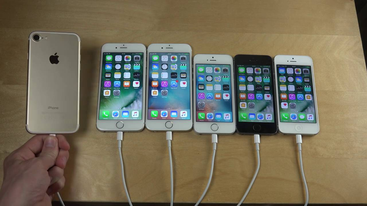 iPhone 7 vs iPhone 6S vs iPhone 6 vs iPhone SE vs iPhone ...Iphone 5 6 7