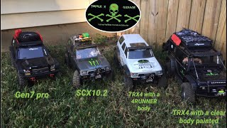 Comparing The Two TRX4 And The GEN7 Pro And Also The SCX10