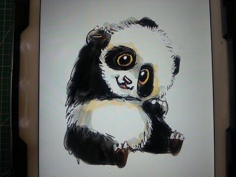 Basit Panda Cizimi How To Draw A Panda Youtube