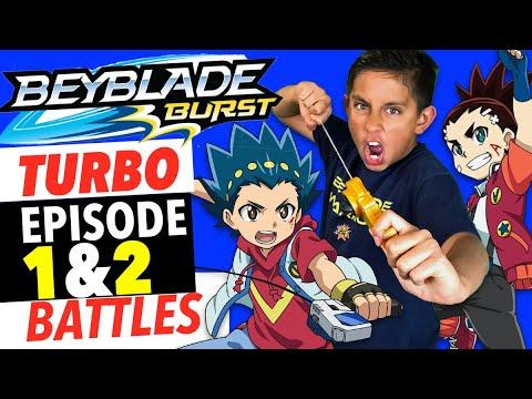 Beyblade Burst Turbo Episode 1 & 2   Battles