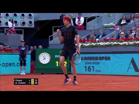 Alex Zverev defeats Thiem to win his first Madrid title | Mutua Madrid Open 2018 Final Highlights
