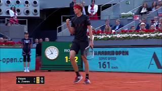 Alexander Zverev defeats Thiem to win first Madrid title | Mutua Madrid Open 2018 Final Highlights