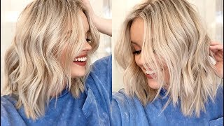 HOW TO EASY WAVES TUTORIAL -  Short to Medium Length Hair