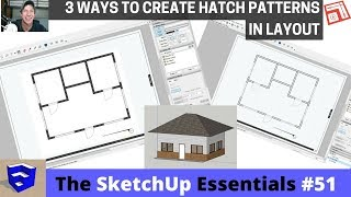 Creating Hatching in Layout from your SketchUp Model - The SketchUp Essentials #51