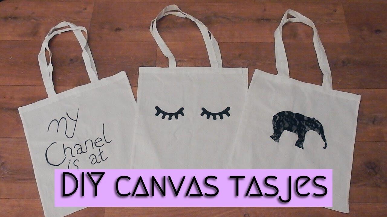 Verrassend DIY Canvas Tasjes || Mandy Denise - YouTube SB-54