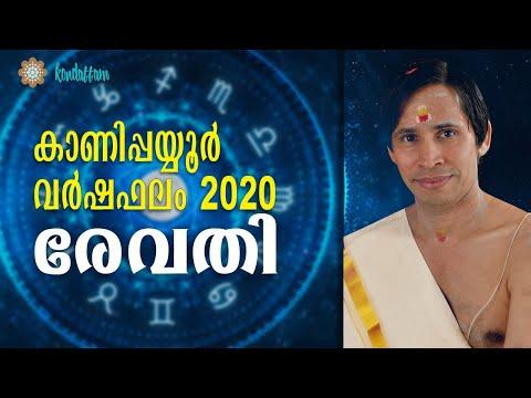 രേവതി വര്ഷഫലം 2020 I Revathi Varshaphalam I Kanipppayyur Astrology