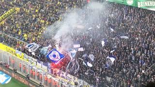 Eskalation zwischen Polizei und Hertha Fans in Dortmund