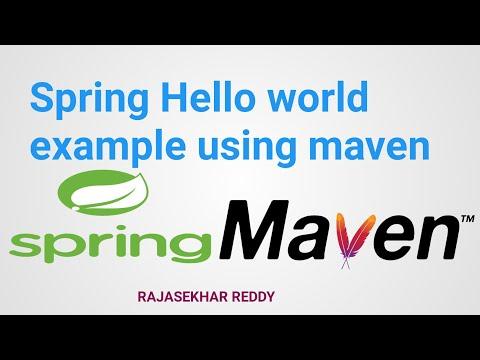 spring Hello world example using maven