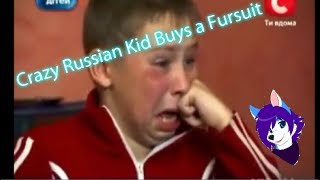 Crazy Ukrainian Kid buys a Fursuit
