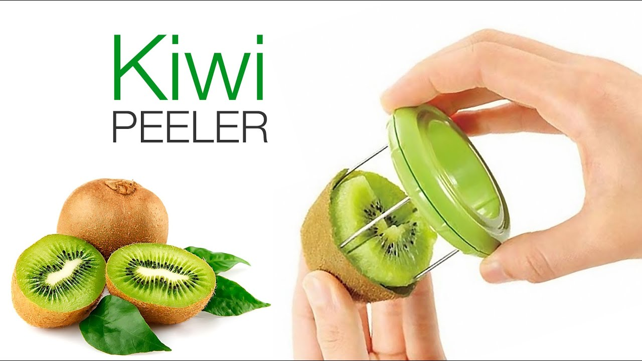 2 in 1 Kiwi Peeler with removable knife
