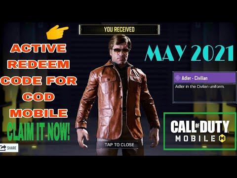 *May 2021* Call Of Duty Mobile Active Redeem Code   Redeem Code Cod Mobile Garena