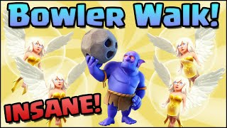 BOWLER WALK IS INSANE! Clash of Clans - Super Bowler Attack Strategy!