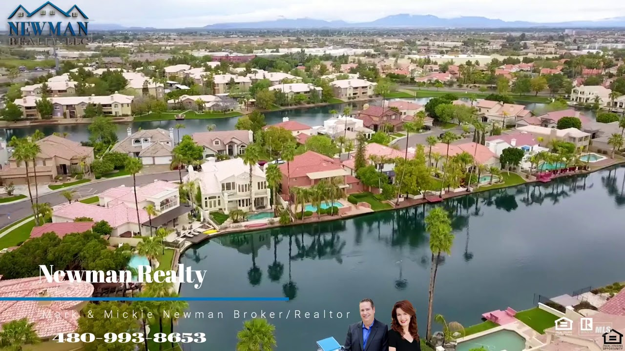 Home SOLD in Gilbert with Waterfront in Val Vista Lakes by Newman Realty 2027 E CATAMARAN DR
