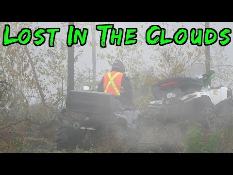 🤪🌧 Crazy Wet ATV Ride In The Clouds Near Area 52 🌧 🤪