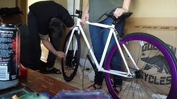 Golden Cycles Fixed Gear Unboxing and Assembly