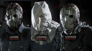 Friday The 13th All Skins - Jason Skins & Counselor Skins