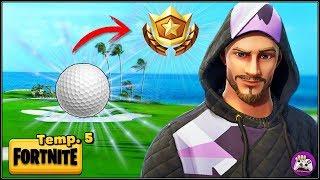 FORTNITE | Golpea una pelota de golf del tee al green en distintos hoyos | dannypetrucci