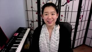 online piano lesson setup