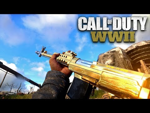ROAD TO CHROME (GOLD SVT 40) - Call of Duty: WW2 Multiplayer Gameplay PS4 PRO