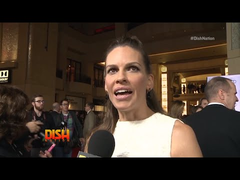 Hilary Swank Dishes On How She Ended Up In Fergie's New Music Video!