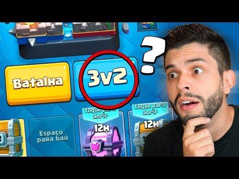 CRIEI O NOVO MODO DE JOGO 3V2 NO CLASH ROYALE!