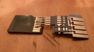Inside of a micro SD card adapter