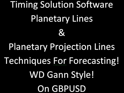 Timing Solution: Planetary & Projection Lines!  WD Gann Style!