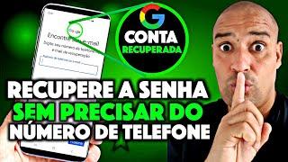 COMO RECUPERAR A SENHA DA CONTA GOOGLE SEM PRECISAR DO NUMERO DE TELEFONE