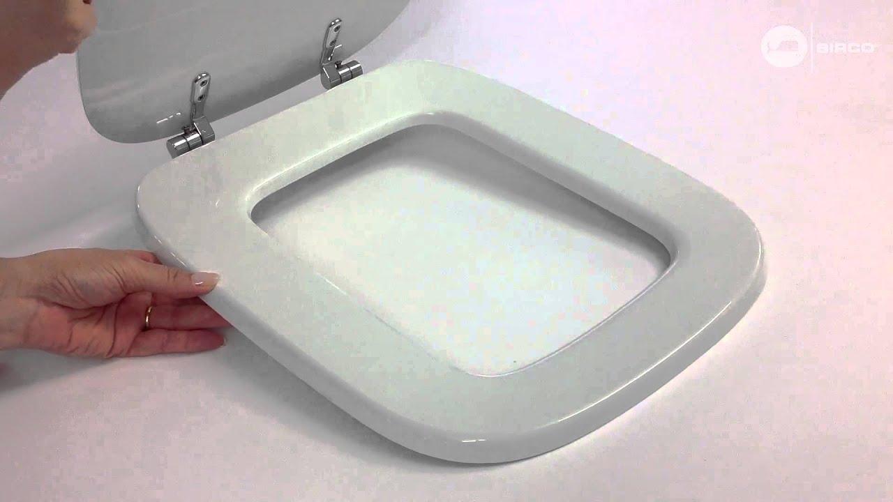 Sedile copriwc dolomite serie rio bianco youtube for Ceramica dolomite