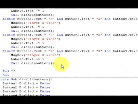 Tic Tac Toe Tutorial Visual Basic 2008 : Part 2