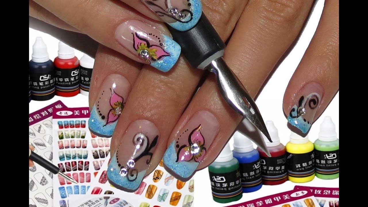 Tmartnail art pen set with painting pigment review and tutorial tmartnail art pen set with painting pigment review and tutorialhow to use pen nibs youtube prinsesfo Gallery