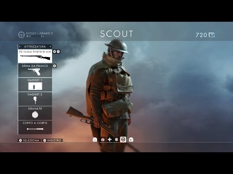 Battlefield 1 (Gameplay ITA Ps4) Scout ad Amiens