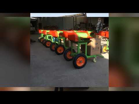 Delivery 500sets diesel engine chaff cutter include wheel  to Africa.