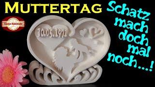 Dekupiersäge-Arbeit Geschenk zum Muttertag selber machen | Scroll saw project mother's day